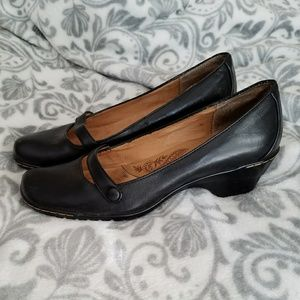 Sofft Black Leather Shoes Size 10N